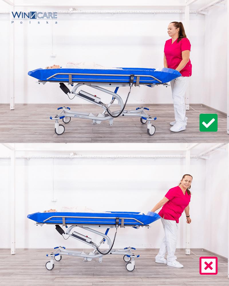 Bezpieczny transfer pacjenta ergonomia wpracy opiekuna