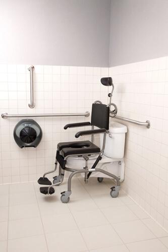 Opieka nadosobą leżącą wdomu: krzesło toaletowo-kąpielowe Hera