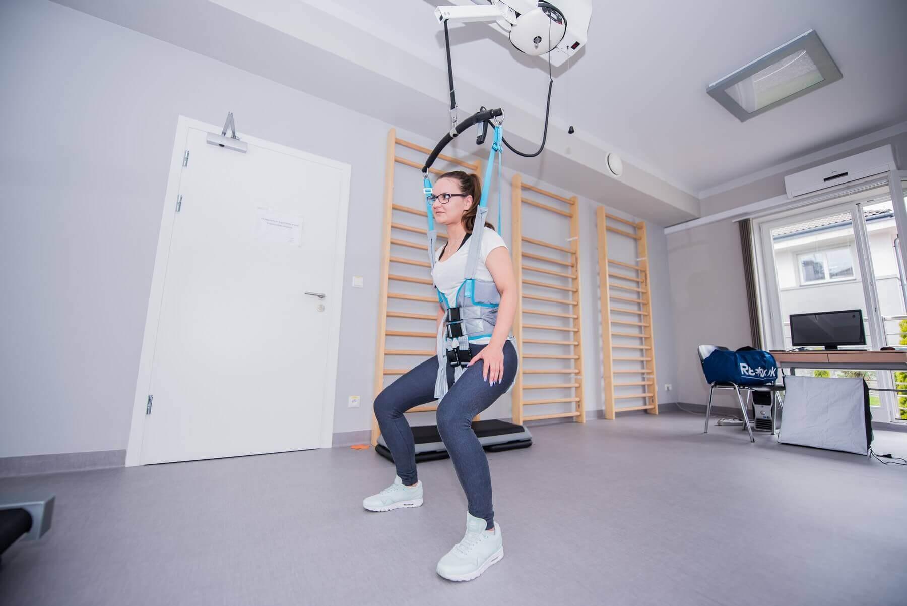 urządzenie doćwiczeń wodciążeniu Ergo Trainer Winncare rehabilitacja chodu