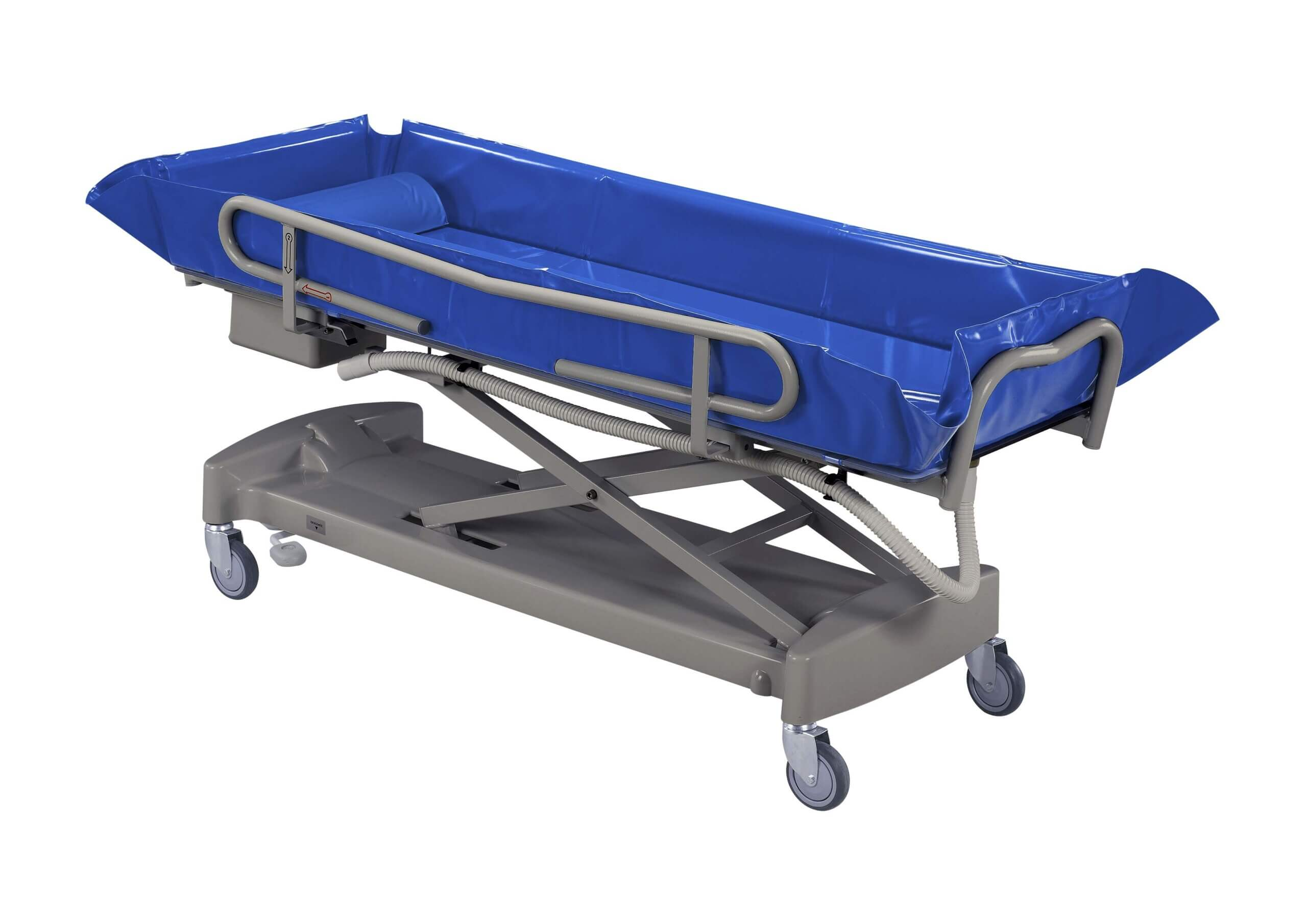 wózek domycia pacjenta wpozycji leżącej